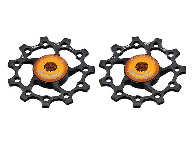 KCNC Jockey Wheel 13 Teeth Ceramic Bearing 1 Pair, black